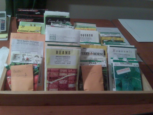 My assortment of seeds (these are just the edibles) - to me this represents true wealth!